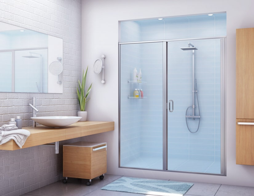 Shower Enclosures SP Glass Solutions Glass Mirror In Chicago - Bathroom shower door repair
